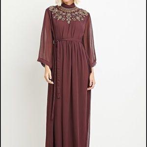 Forever 21 Sequin Chiffon Maxi Dress